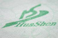 Увеличенное изображение текстуры ткани постельного белья с биофотонами
